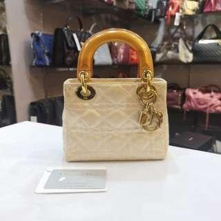 Christian Dior Lady Dior Mini Satin (without Strap)