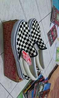 Vans Slip On Checkerboard Original baru BNIB