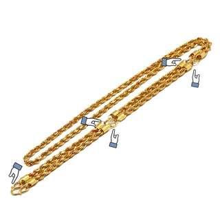 916 Gold Customised 5 hook Amulet Chain