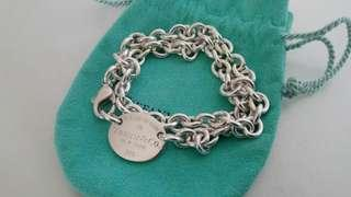 Tiffany & Co 橢圓牌 頸鍊