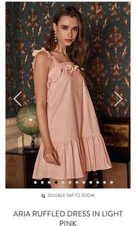 The Closet Lover Aria Ruffled Dress in Light Pink