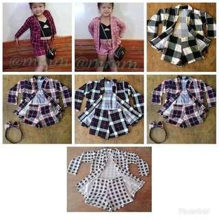 Blazer and Shorts Terno for Kids (w/ inner)