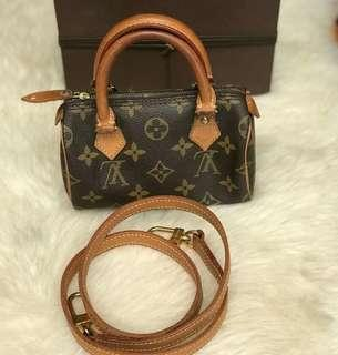 Cute this one !  Louis Vuitton Speedy Nano with strap - 23500 only ✅ on hand