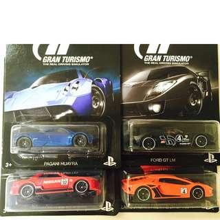 Hot Wheels Nissan Skyline GT-R Ford GT LM Pagani Huayra Lamborghini Lot of 4