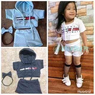Hoodie and Shorts Terno for Kids