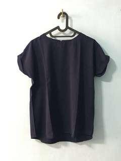 Navy Shirt / kaos biru / blues