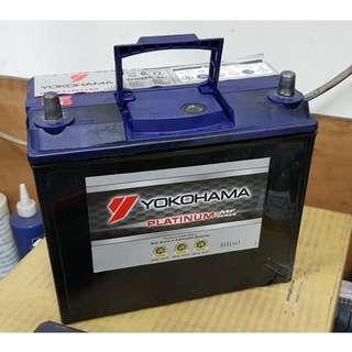 (二手中古電池) YOKOHAMA 55B24L-SMF 免保養汽車電池 數值漂亮,品項優