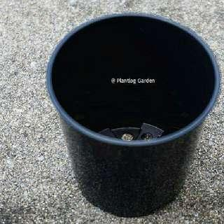 (New) 10pcs Small Plastic Pot (Black)