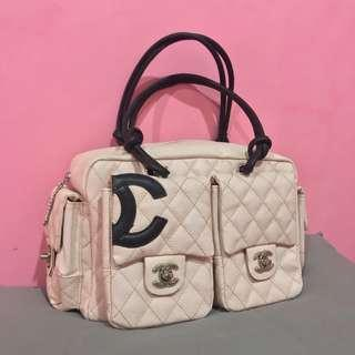 Chanel Baby Pink Cambon Reporter leather Shoulder Bag