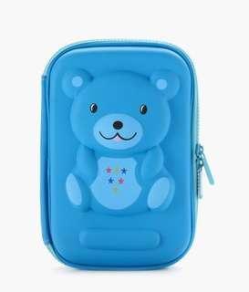 Blue Bear Molded Huge Pencil Case