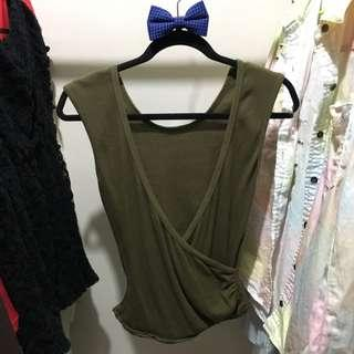 2 Way Style Army Green Top