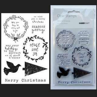 New Kaisercraft Christmas Acrylic Stamps