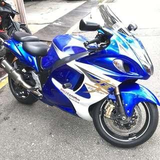 SUZUKI HAYABUSA GSX1300R BLUE WHITE L6