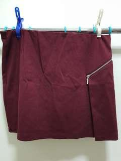Mphosis wine red skirt