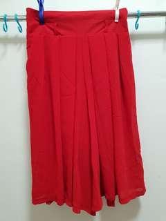 Red Chiffon Pants