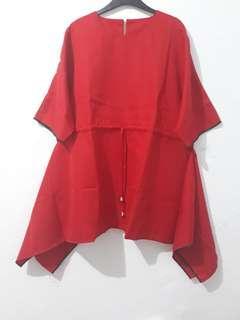 Blouse merah jumbo