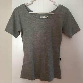 Grey T-shirt top