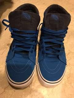 Vans off the wall high cut canvas shoes cobalt blue