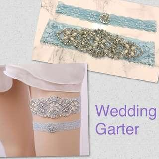 Luxe Jeweled Lace Wedding Garter