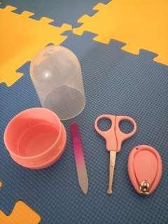 BB剪指甲粉紅色套裝