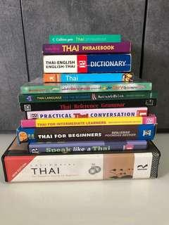 Whole set of Thai Languange Books and CD.