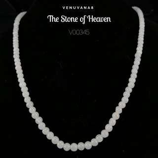 🚚 The Stone of Heaven Burmese Jadiete Necklace (4mm Bead Length 45cm) -Jadiete is priceless, it is an invaluable stone that is being highly respected and admired since ancient time until today.
