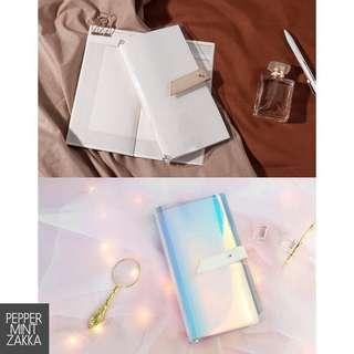 NOTE FOR TN PVC Traveler's Notebook Box Set (1PVC Cover + 2Inserts)