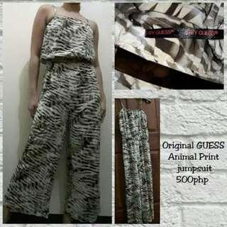 GUESS animal print jumpsuit