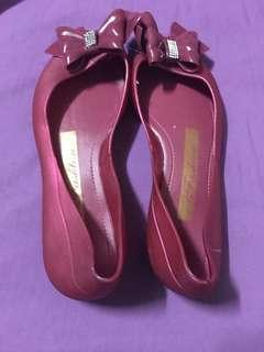 Metallic Red Shoes