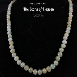 🚚 The Stone of Heaven Burmese Jadiete Necklace (6mm Bead Length 47cm) -Jadiete is priceless, it is an invaluable stone that is being highly respected and admired since ancient time until today.