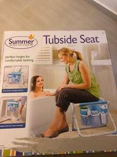 Portable low chair - tubside chair foldable