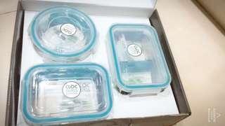 🚚 韓國NEOFLAM耐熱玻璃保鮮盒3入 便當盒 微波盒