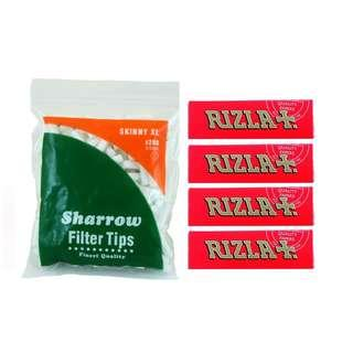(B3)手捲煙濾咀+煙紙組合 / 1x Sharrow Skinny XL Filter Tips + 4x Rizla RED Regular Rolling Papers