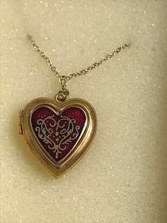 Red heart locket