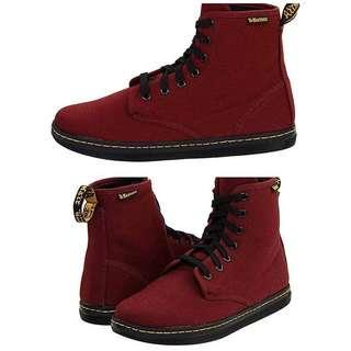Dr Martens Cherry Red in Canvass