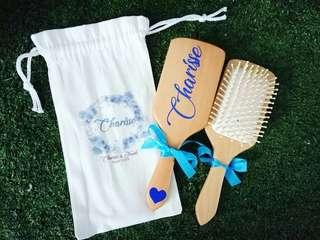 Wooden Hair Massage Brush Giveaway Christmas Gift