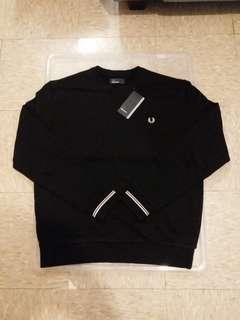 FRED PERRY BLACK SWEAT(黑色衛衣)