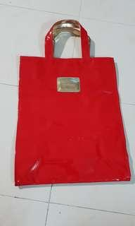 HARRODS LIMITED EDITIONS RED TOTE BAG