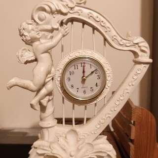 Angel with Harp clock