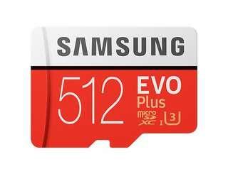 512GB Evo Plus SD Microcard