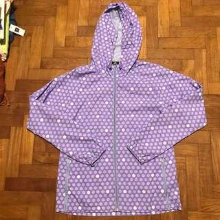 nike purple polka dot windbreaker jacket