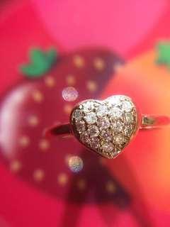 ❤️✨❤️ 18K 玫瑰金 天然鑽石戒指 ❤️✨❤️