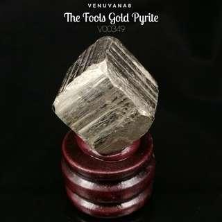 🚚 The Fools Gold Pyrite Specimen (23x24mm)-A Stone that attracts wealth abundance.