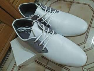 White shoes with grey sides