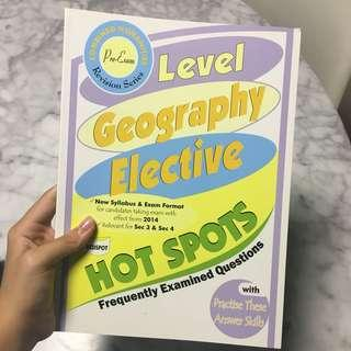 geography elective o level hot spots