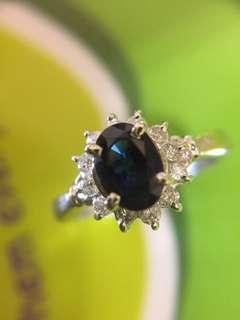 Ⓜ️❇️✨ 天然藍寶石鑽石戒指 ✨❇️Ⓜ️