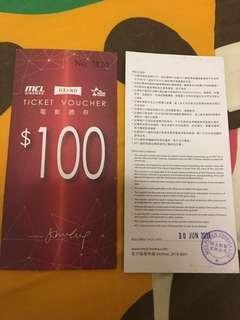 電影禮券($100x2)