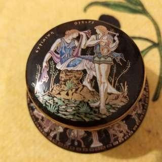 antique harp and angel painting perfume cream from Greece