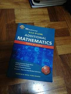 Additional Mathematics topic by topic