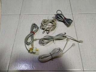 Phone line cable new and used per piece